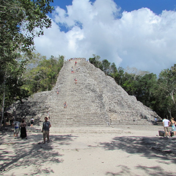 Nohoch Mul is one of the few temples that can still be climbed