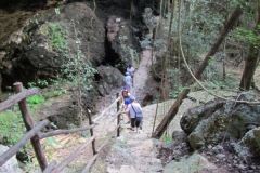 The-Findlay-family-makes-their-way-down-into-a-dry-cenote-Photo-by-Debra-Smith-e1440796628197-600x600
